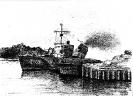 Советский тральщик у стенки в гавани г. Свинемюнде (совр.Свиноуйсьце) – Польша. 1948 г.